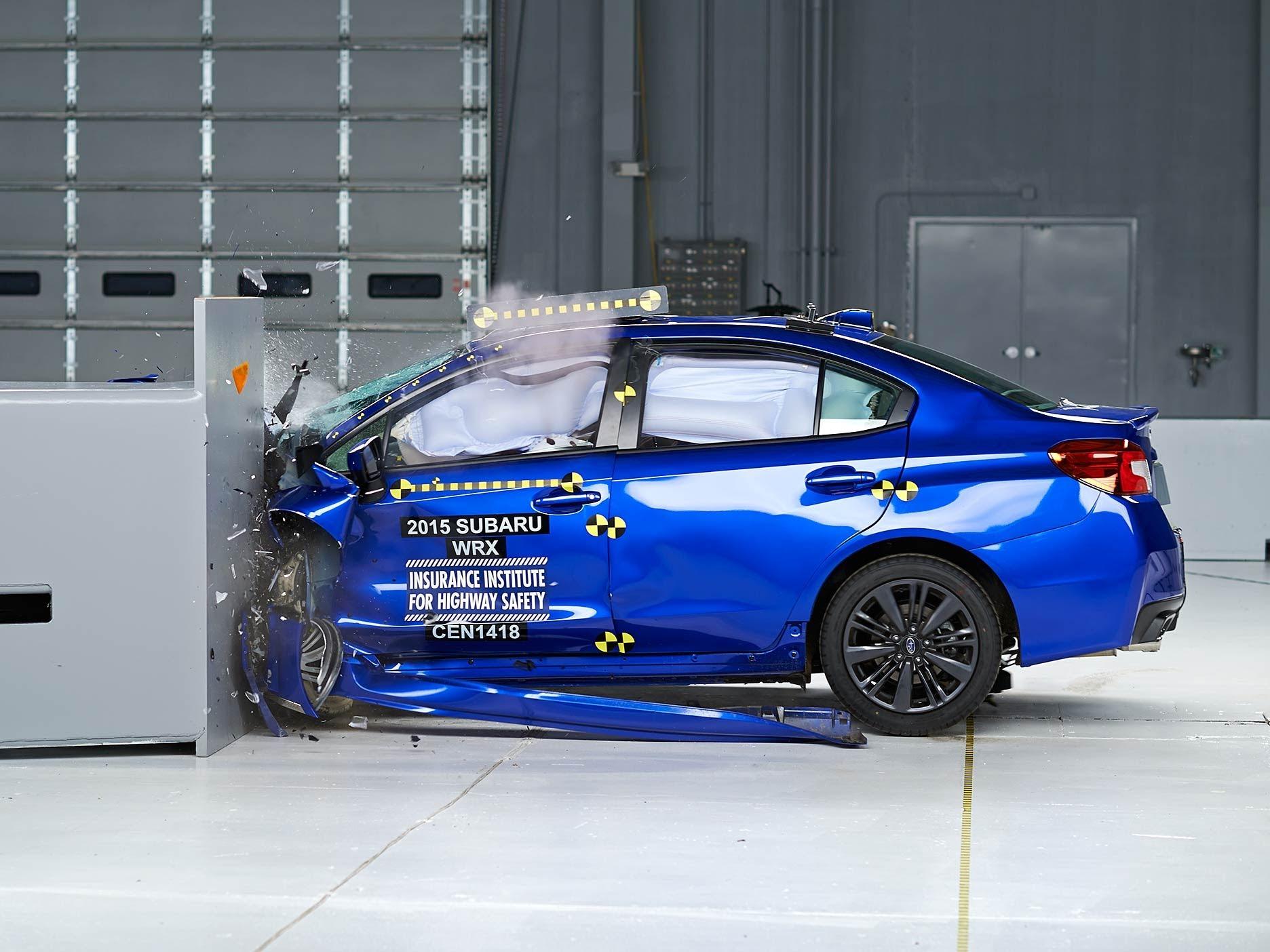2015 Subaru WRX small overlap IIHS crash test