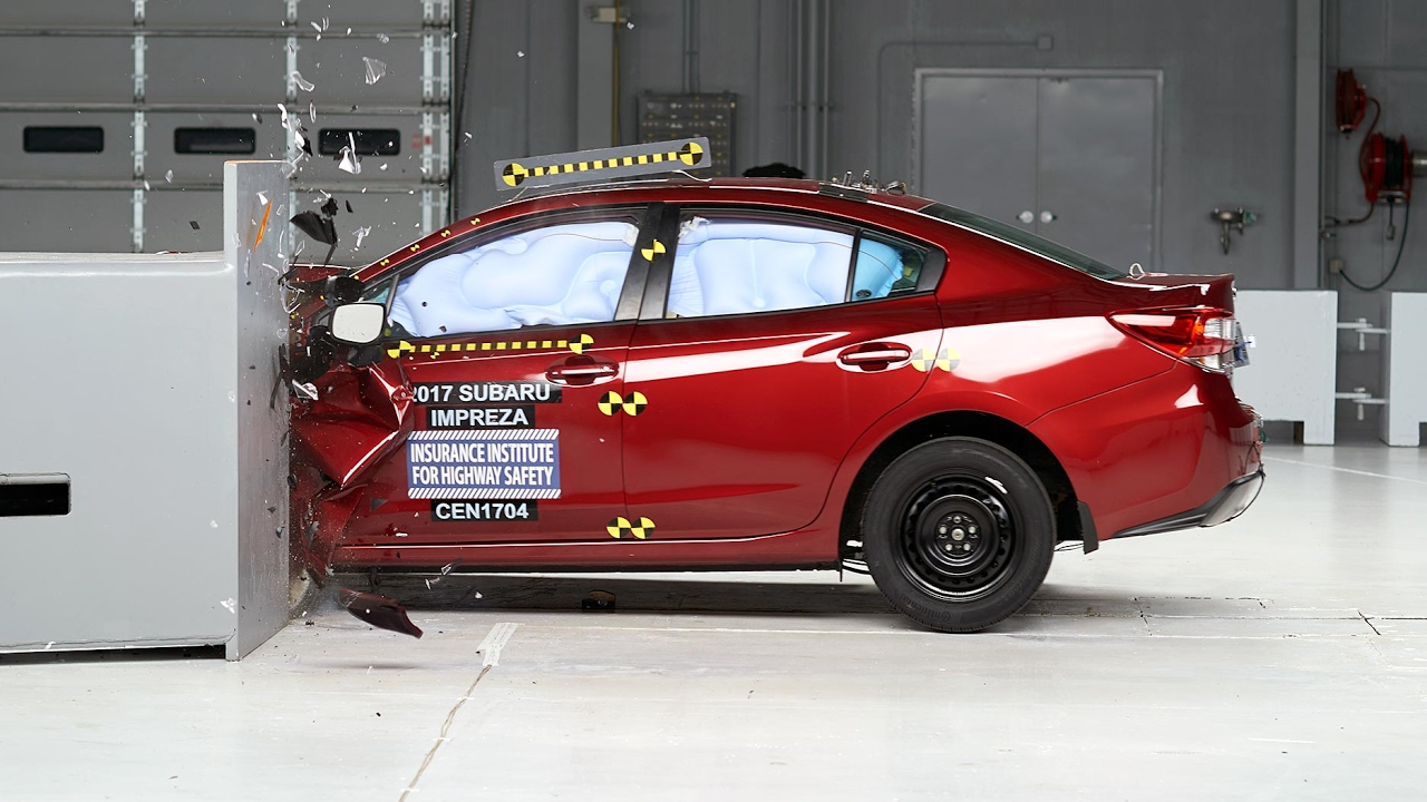 2017 Subaru Impreza small overlap IIHS crash test